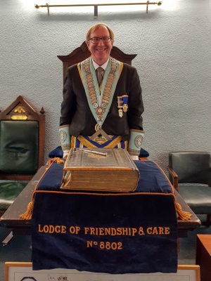 Our new Worhipful Master, Bro. David Collis